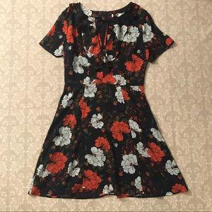 Floral a-line dress.